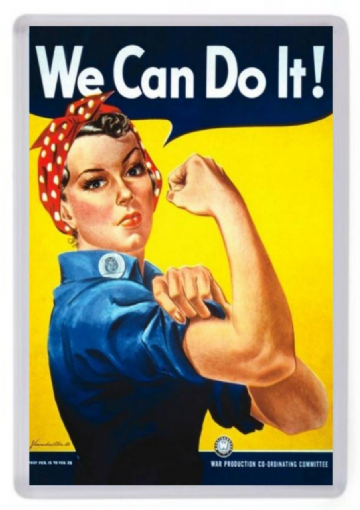 We Can Do It Fridge Magnet. American World War 2 Poster Art